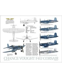 F4U Corsair Data Poster