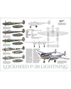P-38 Lightning Data Poster