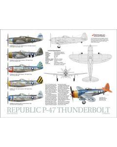 P-47 Thunderbolt Data Poster