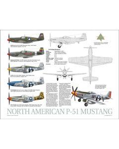 P-51 Mustang Data Poster