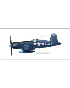 Corsair F4U-5 of VF-13 Profile Print