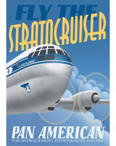 Pan AM Stratocruiser Poster